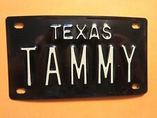 Vintage Personalized TEXAS TAMMY Mini Bike Vanity Name License Plate Sign RARE