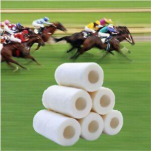 8  BANDAGE COHESIVE 15cmx4.5mt WHITE HORSES PETS FIRST AID PHYSIO TATOO MEDICAL