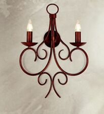 Applique classico 2 luci in metallo colore terra di siena coll. Dese 2610-2A
