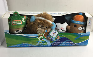 OFFICIAL VANCOUVER 2010 MASCOT SIDEKICK COLLECTOR SET NEW BOXED 4 PLUSH OLYMPICS