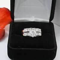 3.50CARAT ROUND CUT DIAMOND WEDDING ENGAGEMENT RING SET 14K SOLID WHITE GOLD