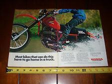 1981 HONDA XL500R  - 2 PAGE ORIGINAL AD