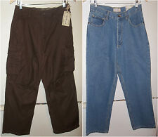2 BOYS NEW WITH TAGS ARIZONA ITEMS JEANS & CARGO PANTS SIZE 18 REGULAR 18R $49