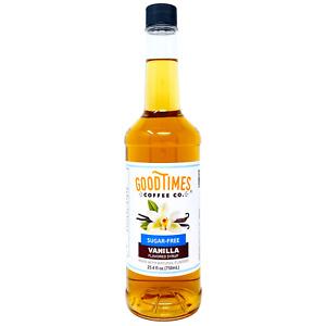 Sugar Free Vanilla Syrup, BPA-Free Bottle, 25.4 Fluid Ounce