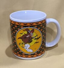 Vintage CASPER & Witch Coffee Mug, 1986, Friendly Ghost