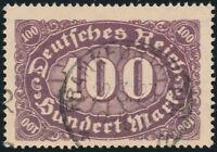 DR 1922, MiNr. 219 DD, Doppeldruck, gestempelt, Befund Weinbuch, Mi. 400,-