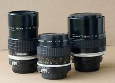 Nikon lens collection 105mm 1.4, 55mm 2.8, 135mm 2.8, Repair or Parts
