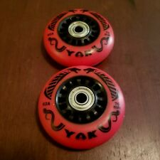 2x 76mm Wheels w bearings for Ripstick ripstik wave caster board 92A Outdoor