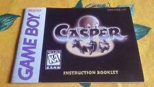 Game Boy Casper original Anleitung Instruction