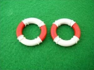 Pair of Lifebelts in 1/24th Scale. Model Boat Fittings.
