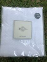 NEW SFERRA Blanket 100% Cotton White  Full / Queen Coverlet $395 Textured New