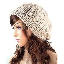 Fashion Women Knit Crochet Beret Braided Baggy Beanie Hat Warm Winter Ski Cap