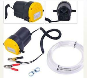 New 12V 5A Oil Diesel Fluid Extractor Electric Transfer Scavenge Suction Pump US