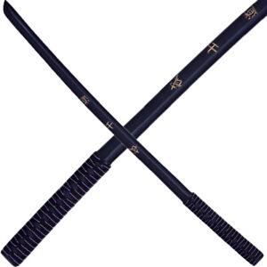 Haller Bokken Daito Katana mit Wicklung Trainingsschwert Holzschwert schwarz