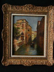 Tableau Huile sur toile un canal à Venise