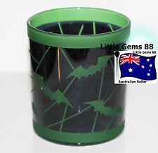 YANKEE CANDLE * BATTY BATS Green * HALLOWEEN Glass Votive Candle HOLDER
