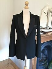 Zara Black Tuxedo Collar Blazer Size S UK10 Bnwt