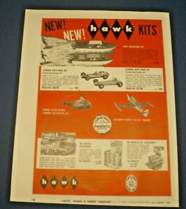 "HAWK "" AQUA DRAGSTERS kit & more"" 1961 Original Advertisement"