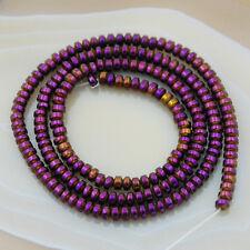 """Hematite Gemstone Rondelle Spacer Beads 16"""" 3mm 4mm 6mm 8mm 10mm"""
