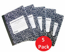 """5Pk Note Books UnRuled Composition Unruled Book 200 Pages White 9-3/4"""" x 7-1/2"""""""