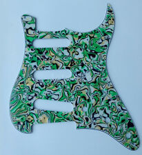 Guitar Pickguard Scratch Plate For Fender Stratocaster Parts 3 Ply Green Shell