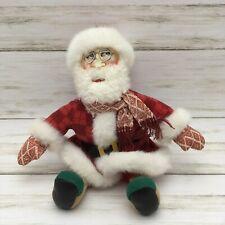 "2002 Mary Engelbreit Santa Claus Christmas Plush Doll 9"""