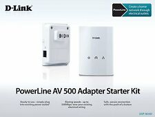 D-Link PowerLine Network Adapter AV500 Gigabit Starter Kit DHP-501AV max 500Mbps