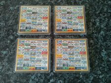 License Plates of America Coaster x 4. NEW. Acrylic. The 50 Different States