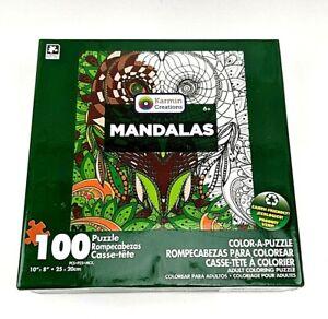 Mandalas Color A Puzzle Owl -Complete, NEW- Karmin Creations 100 pieces