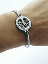LADIE'S STAINLESS STEEL  316L TREE OF LIFE CLASSIC LINK CHAIN BRACELET