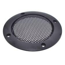 "2 Pcs 2"" inch Black Audio Speaker Cover Decorative Circle Metal Mesh Grille EW"