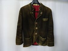 Men's Vtg 1930'S JAHN MARKL Deerskin Bavarian Mountain Leather Jacket 34R (XXS)