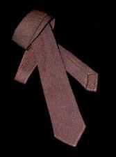 NECKTIE Vintage LOCHMARL 100% Wool Plain Brown Country TIE Tweed Wool Woven