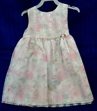 Girls 24 month Party Dress Sweet Shimmering Pink Floral Sleeveless Polyester NEW