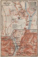 BRIXEN / BRESSANONE town city plan & environs. Südtirol Italy Italia 1911 map