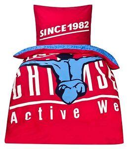 """Bettwäsche Chiemsee® """"Since 1982""""  Wende Bettwäsche Rot/Blau Sportbettwäsche"""