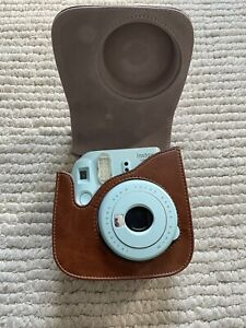 Fujifilm Instax Mini 9 Instant Camera Polaroid(Blue) With Case