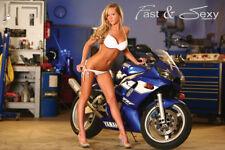 Yamaha R6 Bikini Model Fast & Sexy Poster Hot Girl and Sport Bike motorcycle
