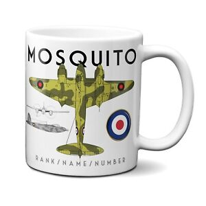Personalised MOSQUITO Mug Cup RAF WW British Military Fighter Plane BPM04