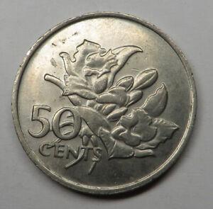 Seychelles 50 Cents 1977 Copper-Nickel KM#34 UNC