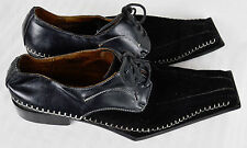 Sevasta Italiano Coffin Toe Pointy Suede Dress Shoes Lace Up 11.5 Goth
