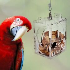 New listing Parrot Bird Cage Feeder Hang Foraging Device Toys Pet Treat Hunt Macaw Cockatoo
