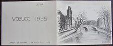 LOTIRON, lithographie, carte de voeux 1955, Sagot Le garrec 24 rue du Four Paris