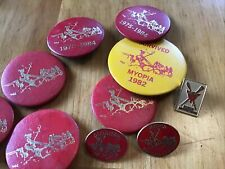 Horse Carriage Driving Club Myopia Driving Club Pins - Many paper and 3 metal