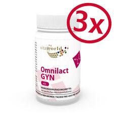 Pack de 3 Probiotique Omnilact Gyn 180 Capsules souches spécifiques de bactéries
