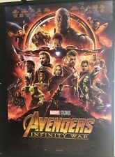 Avengers Infinity War (2018) Manifesto originale Prima Edizione ITA 100X140cm