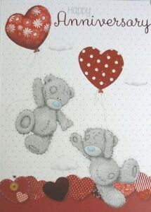 Me To You ~Anniversary Card~ Red Heart Balloon~ Romantic ~Wife~Husband~ Free P+P