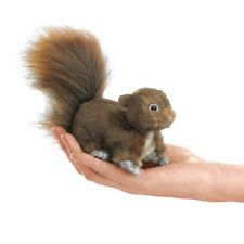 Red Squirrel Finger Puppet, Folkmanis Puppets MPN 2735, 3 & Up, Boys & Girls