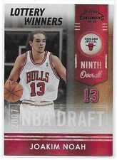2009-10 Playoff Contenders JOAKIM NOAH Lottery Winners Black /50 Chicago Bulls