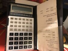 Calculatrice Casio FC-100 FINANCIAL CONSULTANT Avec Sa Pochette Vintage 70's